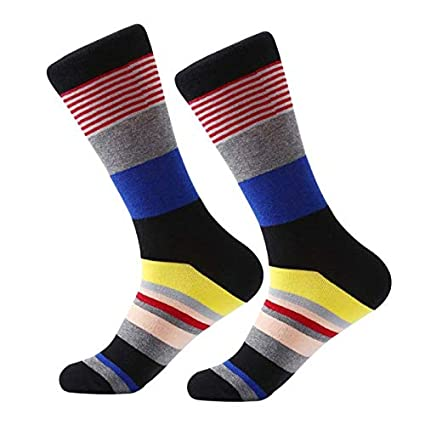 956a3c567a9eb Amazon.com: Crew Socks Fashion Colorful Socks Men Hit Color Argyle ...