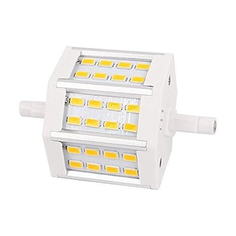 Ahorro de energía R7S 5W 5730 SMD 24 LED Bombilla Blanco cálido AC 85-265V - - Amazon.com
