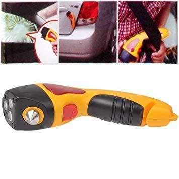 Uniqus Multi-Function Lighting Emergency Hammer(Yellow)