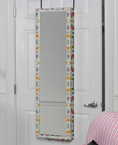Mirrotek 3VU1448RGFL Triple View Professional Over The Door Dressing Mirror with 4 Mirrors, Red Green Flowers by Mirrotek