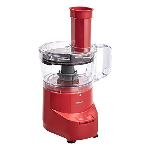 Amazon Basics 4-Cup Food Processor, Red