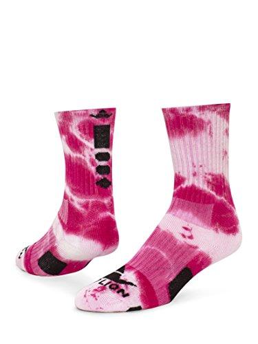 Red Lion Maxim Crew Sock (Neon Pink/White - Medium)