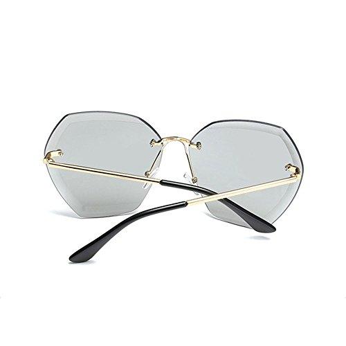de Vintage Mujeres UV400 Ladies Gafas 2 para Gafas Color Oculos Femeninas Montura NO Sol diseñador Sunglass Gafas de la Mujeres Marca de Summer Sol Moda NO Sol sin De 1 AqOYx18PO