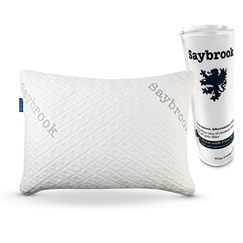 Saybrook Premium Adjustable Loft Pillow – Hypoallergenic Machine-Washable Bamboo Cover – Lion Down Alternative Filling…