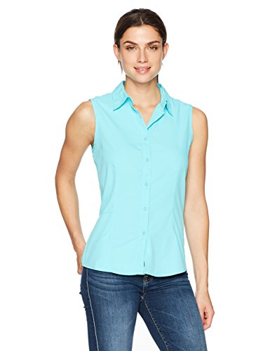White Sierra Gobi Desert Sleeveless Shirt, Blue Radiance, X-Large