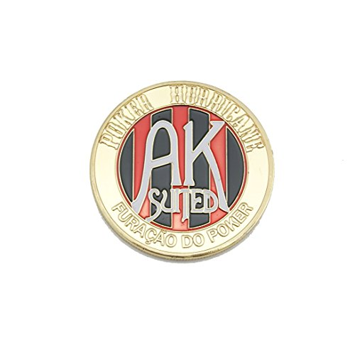 Pressing Poker Cards Guard Protector Poker Chip Coins Inlay Lucky Souvenir 1-pc Set (AK SUITED) (Poker Chip Card Guard)