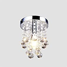 Crystal Chandelier,Create for Life Mini Style 1-Light Flush Mount Chandelier with Crystals