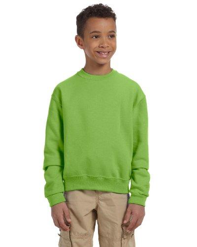 562b Jerzees Sweatshirt (Jerzees Youth 8 oz., 50/50 NuBlend Fleece Crew, XL, KIWI)