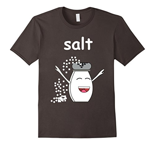Mens SALT and Pepper Shirt Best Friend Matching Couples Halloween 3XL Asphalt