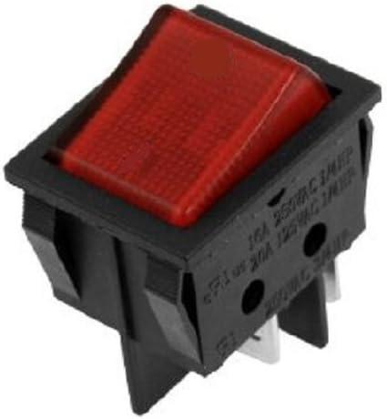 Rocker Switch 240V Mains ON//OFF Double Pole Pin DPST Orange