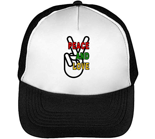Fashioned Hombre Gorras Sign Blanco Hand Beisbol Negro Snapback Peace qIBxEwt