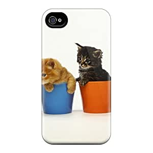 Shockproof/dirt-proof Kittens In Cups Cover Case For Iphone(4/4s)