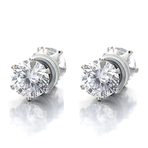 Magnetic Zirconia Earrings Non Piercing Cheater