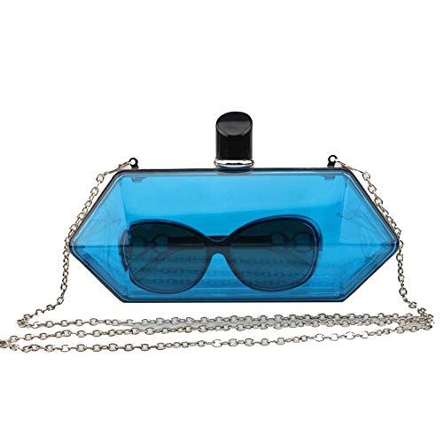 Blue Fluorescent Color Handbag Candy Bride Clutches Purses Evening Womens Wedding Uqwzxz4