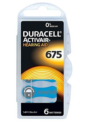 Duracell EasyTab 675 Zinc Air Hearing Aid Batteries - 600mAh - 60 Piece Retail Packaging ()