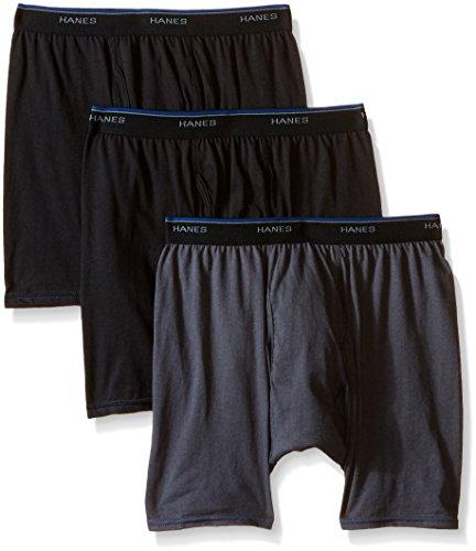 Hanes Men's FreshIQ ComfortBlend Boxer Brief 3-Pack