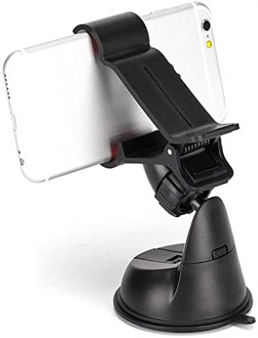Alcatel OneTouch Pop Nova Compatible Easy One Hand Mount Car Holder Windshield Dash Clipper Cradle Window Rotating Dock Suction