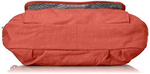 Kipling Damen Syro Umhängetasche, Schwarz, 31x22x12.5 cm Rot (78g Red Rust)