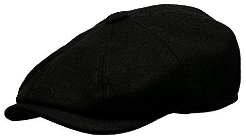 Newsboy Ivy Cap Gatsby Golf Driving Hat (Medium, Black) ()