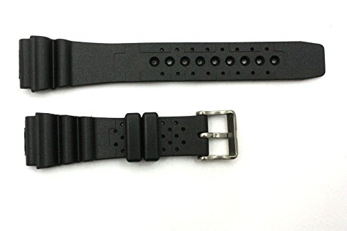 Amazon.com: 20mm for Citizens Black Rubber Wind Velocity Divers Watch Band Strap: Watches