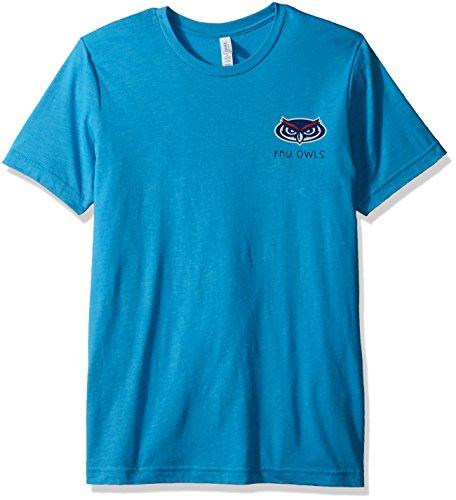 NCAA Florida Atlantic Owls Adult NCAA Aztec Square Short sleeve Triblend T-Shirt,Large,Aqua