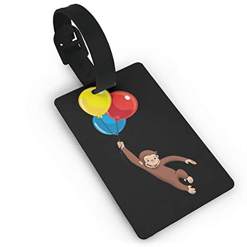 Luggage Tags Curious George Name ID Labels For Travel Suitcase Baggage Bag