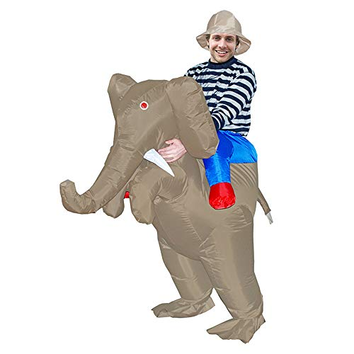 MoreToys Inflatable Elephant Rider Halloween Blow Up Costume