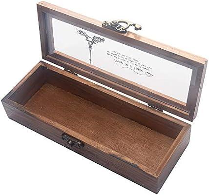 Caja de madera vintage, organizador de escritorio de madera con ...