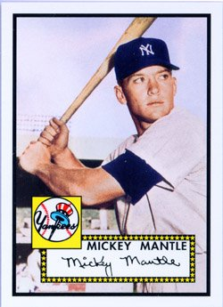(2006 Topps Rookie of The Week 1 Mickey Mantle New York Yankees (Baseball Cards) )