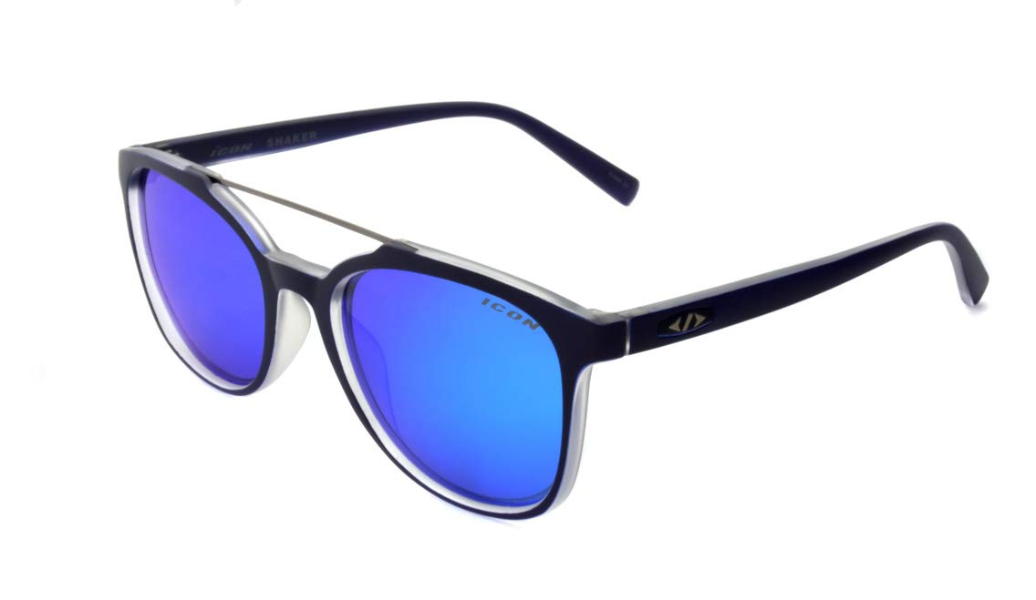 Polarized Sport Sunglasses 20973-0208R9-ISS Matte Blue Shaker One Size Inc Icon Eyewear