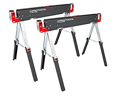 PROTOCOL Equipment SH-042 Work Shop Adjustable Sawhorse from PROTOCOL Equipment