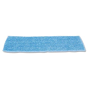 """Rubbermaid Commercial HYGEN RCP Q409 BLU Economy Wet Mopping Pad, Microfiber, 18"""", Blue (Pack of 12)"""