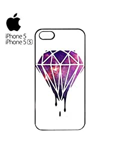 Dripping Diamond Galaxy Mobile Cell Phone Case Cover iPhone 5&5s White