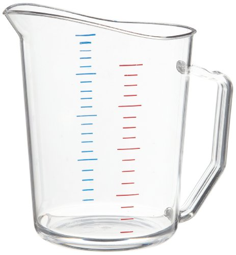 Cambro 100MCCW 1 qt Capacity, Camwear Clear Polycarbonate Liquid Measuring Cup