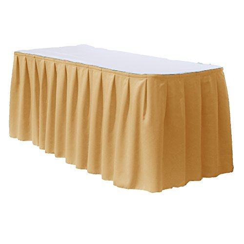 Polyester table skirts for 8 feet rectangular table by Fl...