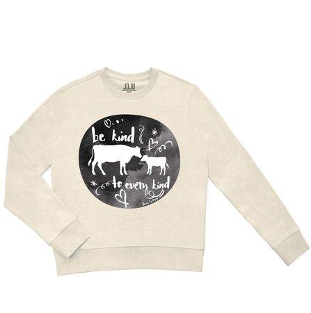 Sweatshirt creme chine Be Kind