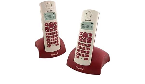 SPC Bubble - Teléfono (Teléfono DECT, Escritorio, Rojo, Color Blanco, Tone/Pulse, Digital, Alemán, Holandés, Inglés, Español, Francés, Italiano, Portugués): Amazon.es: Electrónica