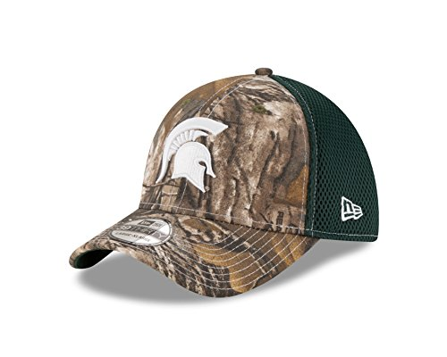 NCAA Michigan State Spartans Men's Realtree Neo OTC 39Thirty Stretch Fit Cap, Large/Extra Large, Green