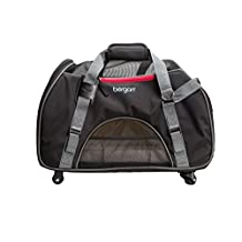 Bergan Wheeled Comfort Carrier-Black and Grey, Large
