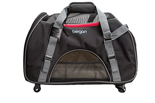 Bergan Wheeled Comfort Carrier, Large, Black