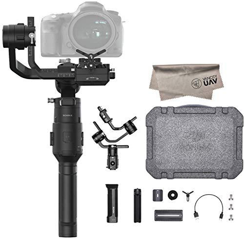 2019 DJI Ronin-S Essentials Kit 3-Axis Gimbal Stabilizer for Mirrorless and DSLR Cameras, Tripod, Gimbal Hook and Loop Strap, 1 Year Limited Warranty, Black(CP.RN.00000033.01) ()