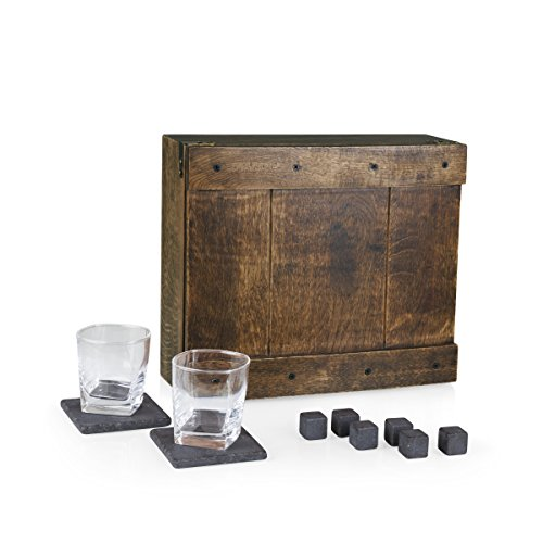 Picnic Time Whiskey Box Gift Set with Service for Two -  LEGACY, 605-10-509-000-0