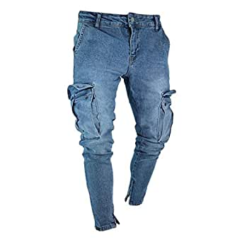 Memefood 2019 Pantalones Vaqueros Hombres Rotos Pitillo ...