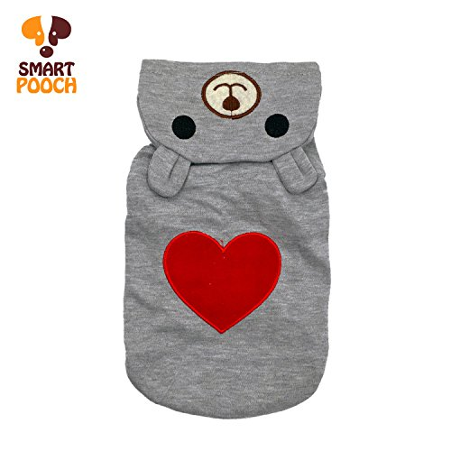 [Puppy Dog Pet Extra Cute Lovely Bear Design Stylish Hoodie Clothings Jumpsuit Jacket Coat Costume Outfit Sweatshirt Doggy Clothes by Smart] (Bear Dog Costume)