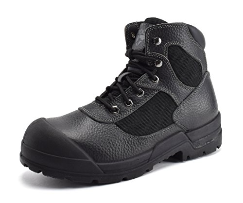 Condor Men's Wyoming Steel Toe Full Grain Leather Work Boot, Black, 13 E (US)