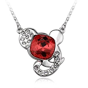 ZMC Women's Red Pendant Necklace