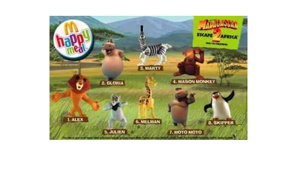 2008 Madagascar 2 McDonalds Happy Meal Toy Moto Moto the Hippo #5