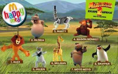 Madagascar Toys From Mcdonalds