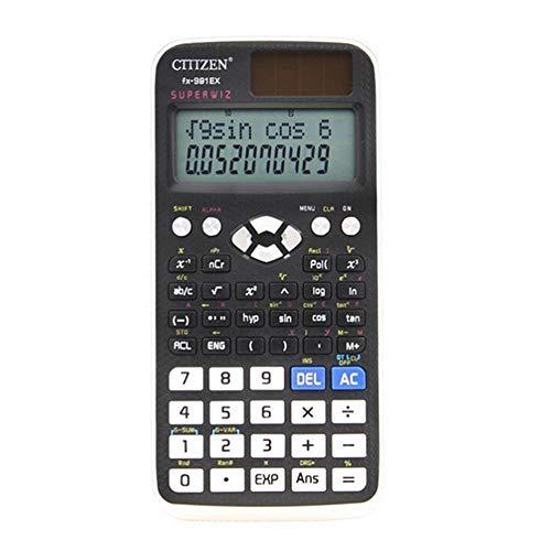 Aolvo calculadora científica no programable, calculadora científica básica de 2 líneas sin gráficos, visualización...