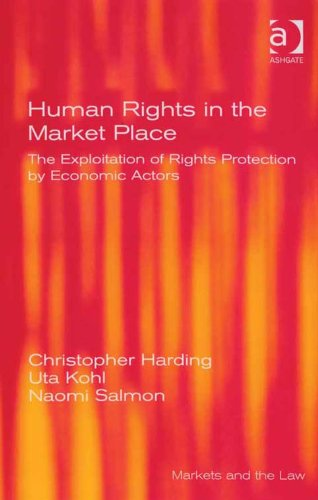 Download Human Rights in the Market Place: The Exploitation of Rights Protection by Economic Actors (Markets and the Law) Pdf